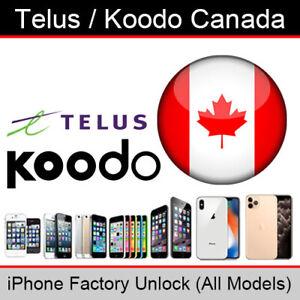 /Telus Koodo Canada Sblocco iPhone factory service (tutti i modelli supportati)