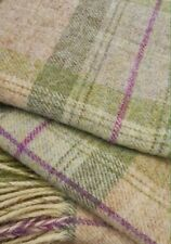 Bronte By Moon SKYE CHECK Blanket Throw In Sage BRITISH WOOL &  FREEPOST