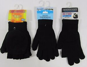 6e88a2f24 Adults Mens Magic Thermal Gloves Mitten 2 in 1 Fingerless Full ...