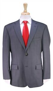 HUGO-BOSS-Recent-Pasolini-Movie-Gray-Woven-140-039-s-Wool-2-Btn-Suit-38S
