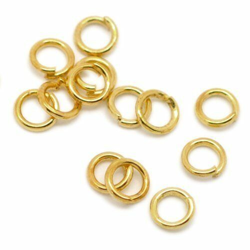 1000 Binderinge 8mm Ösen GOLD Metall Ring Verbinder Spaltringe SF18#4