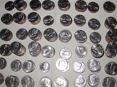 Lot =one roll 1971 D JFK Kennedy Half Dollars ALL AU-BU 20