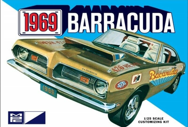 1969 Plymouth Barracuda 1 25 Scale MPC Detailed Plastic Car Kit