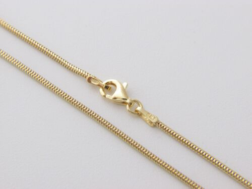 Solid gold over Sterling Silver Box Chain Snake Chain// Rope chain D//C Necklace