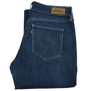 Authentic L30 Damen Modern Rise Curve W29 Bold DBlau Levis Denim Demi Jeans hrtQds