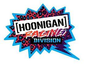 Hoonigan Sticker Decal Bumper Sticker Race Funny x2