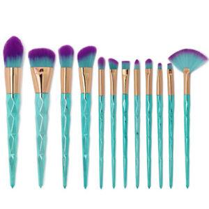 12pcs unicorn makeup brushes set foundation blush