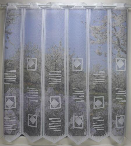 1 Lamelle B:13cm Höhe 30//49//78//105cm Kurzgardine Scheibengardine Bistrogardine