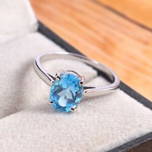 Topaz Ring Sterling Silver Jewelry Woman Topaz Ring Dainty London Blue Topaz Ring Handmade Statement Ring Simple Gemstone Ring