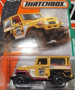 MATCHBOX-TOYOTA-LAND-CRUISER-FJ40-YELLOW-New-In-Package-1-64-Die-Cast-Metal-Part