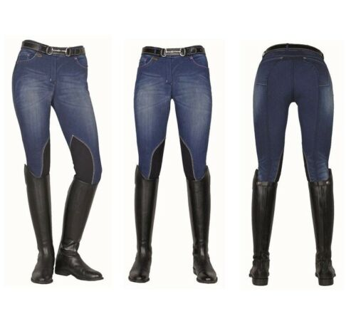 HKM Ladies Summer Comfort Breathable Denim Breeches CLEARANCE SALE RRP £55