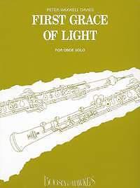 sheet music; Maxwell Davies Folding Sir Peter.; Oboe First Grace Of Light