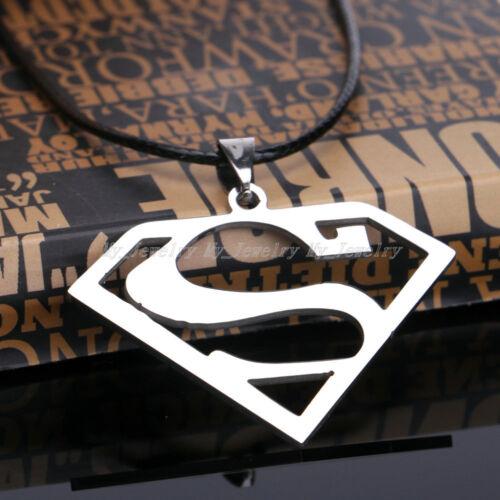 Punk Superman Batman Águila Collar de plata de hombre de Mujer Colgantes Cadena encantos Regalos