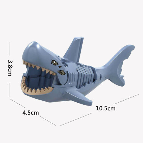 6-Color Big Shark Child Minifigures Building Blocks Shark Toys Mini Figure