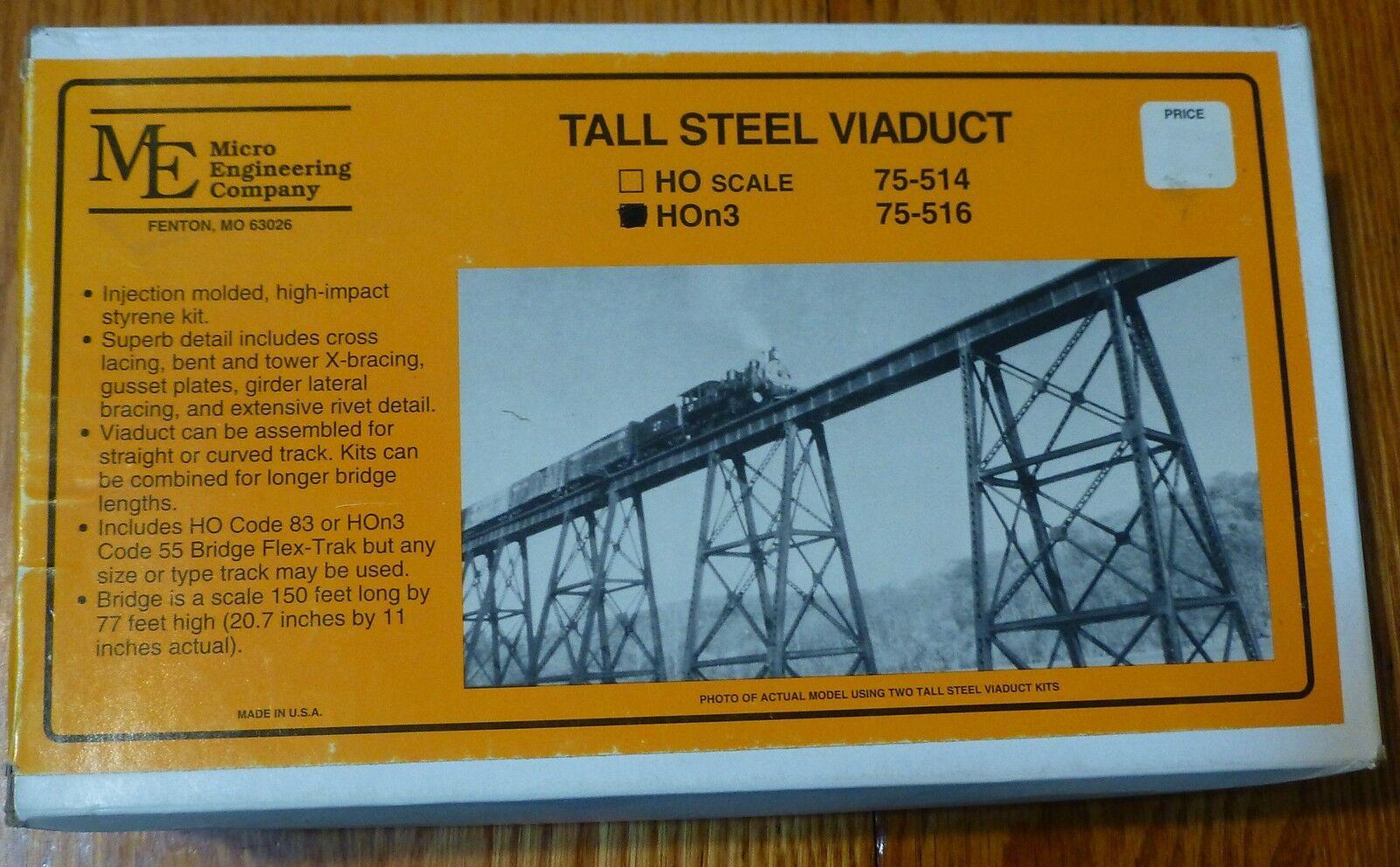 Micro Engineering företag HOn3 (Kit) Tall Steel Viaduce (150'x 70'Tall)