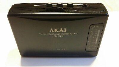 Akai Pm-r23 Fm/am Radio Portable Cassette Player, Walkman, Tested And Working Vloeiende Circulatie En Pijn Stoppen