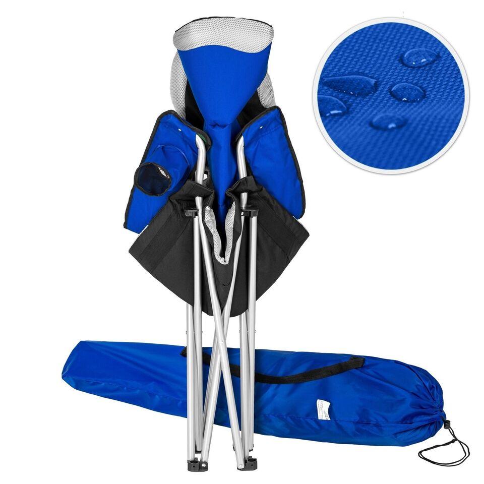 4 Campingstole polstret blå