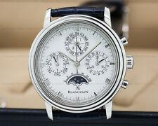 Blancpain 5585 5585-1125-55 5585112555 Perpetual Calendar Chronograph SS