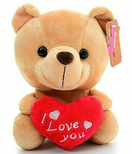 """Teddy Bear with Love You Heart Pillow Plush Stuffed Animals Kids Toys Gifts 6/"""""""