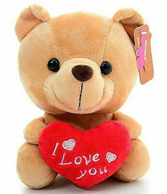 I love you teddy bears with hearts enamel tibetan silver earrings Valentine gift
