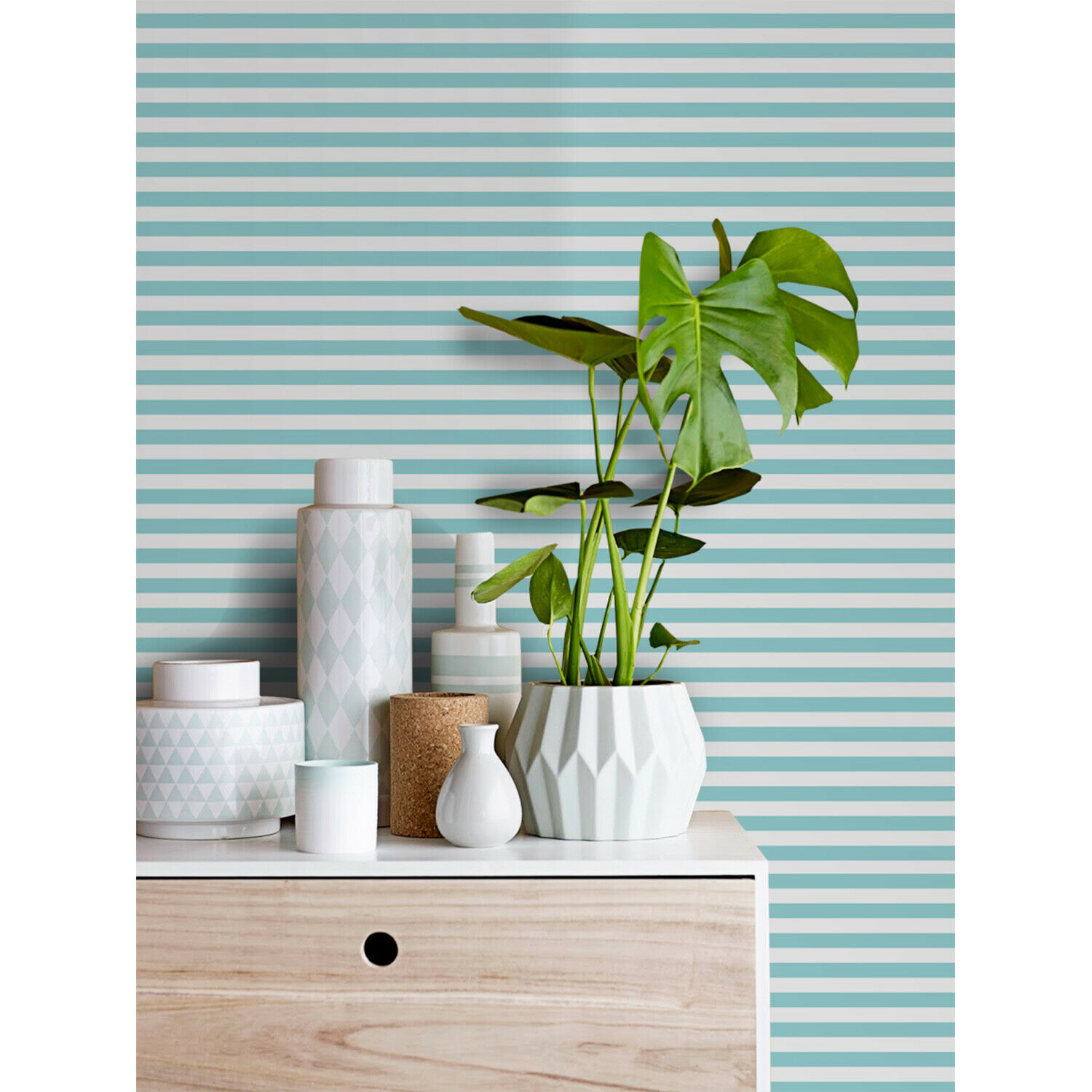 Minimalistic lines pattern simple geometric stripped modern Non-Woven wallpaper