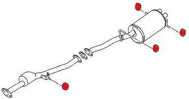 15mm for /'93-/'07 Impreza//WRX//STi//FXT KB-011-B-15MM Kartboy Exhaust Hanger x1