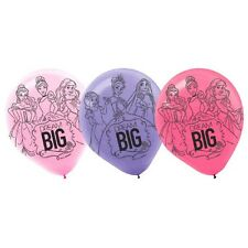 "6 Disney Princess 'Dream Big' Birthday Party 12"" Printed Latex Balloons"