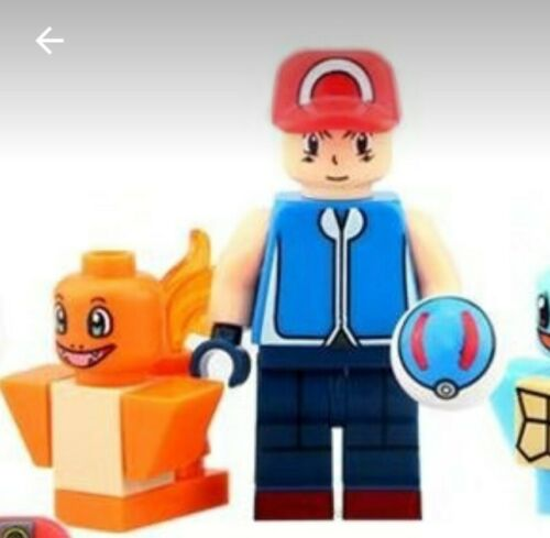 Building Block mini figures Pokémon Trainer with Charmander fits Brands