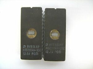 ERASED INTEL FD2764-3 FD2764 2764 IC 28-PIN EPROM Lot of 3 Pieces TESTED