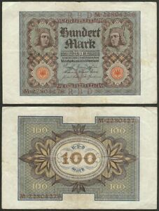 GERMANY-100-mark-1920-P-69b-Europe-banknote-Edelweiss-Coins