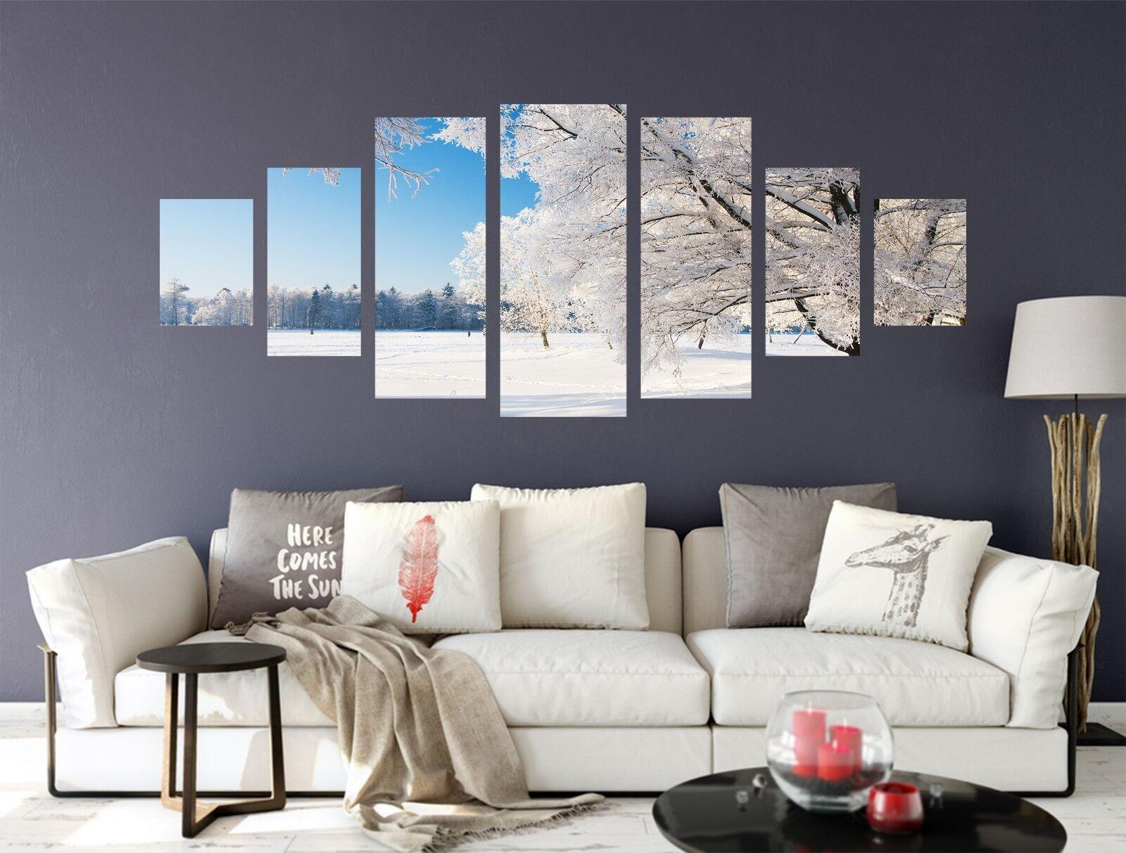 3D Snow Tree Road 72 Unframed Print Wall Paper Decal Wall Deco Indoor AJ Jenny