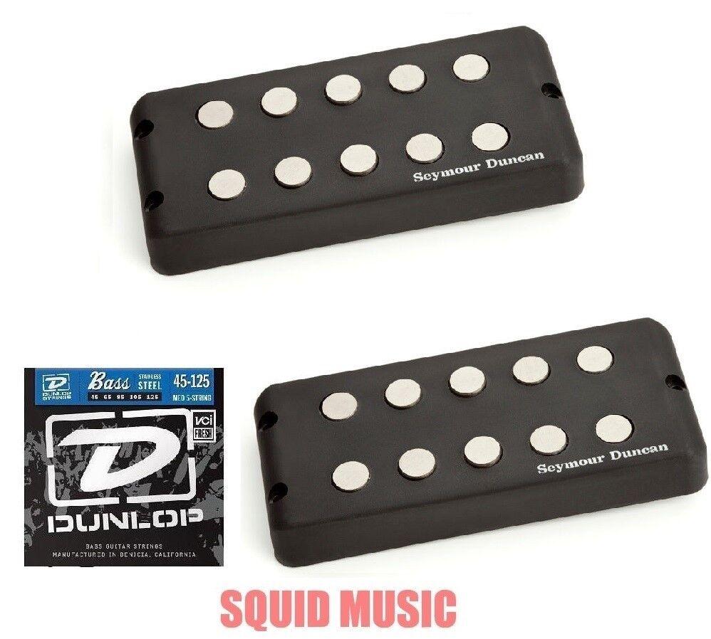 Seymour Duncan SMB-5D 5 String Music Man Ceramic Magnet Set ( FREE BASS STRINGS)