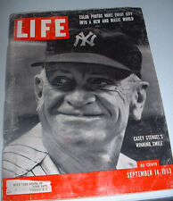 LIFE MAGAZINE 1953-CASEY STENGEL-COVER-COLORED PICS OF NEW YORK- GREAT ADS