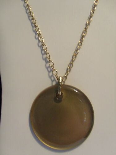 NEW LANE BRYANT GOLD TONE NECKLACE W// GOLD or PURPLE PENDANT $18 RETAIL *D5*