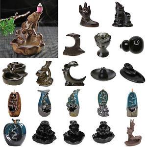 Backflow-Ceramic-Incense-Burner-Holder-Lotus-Plate-Censer-Home-Fragrances-Decor