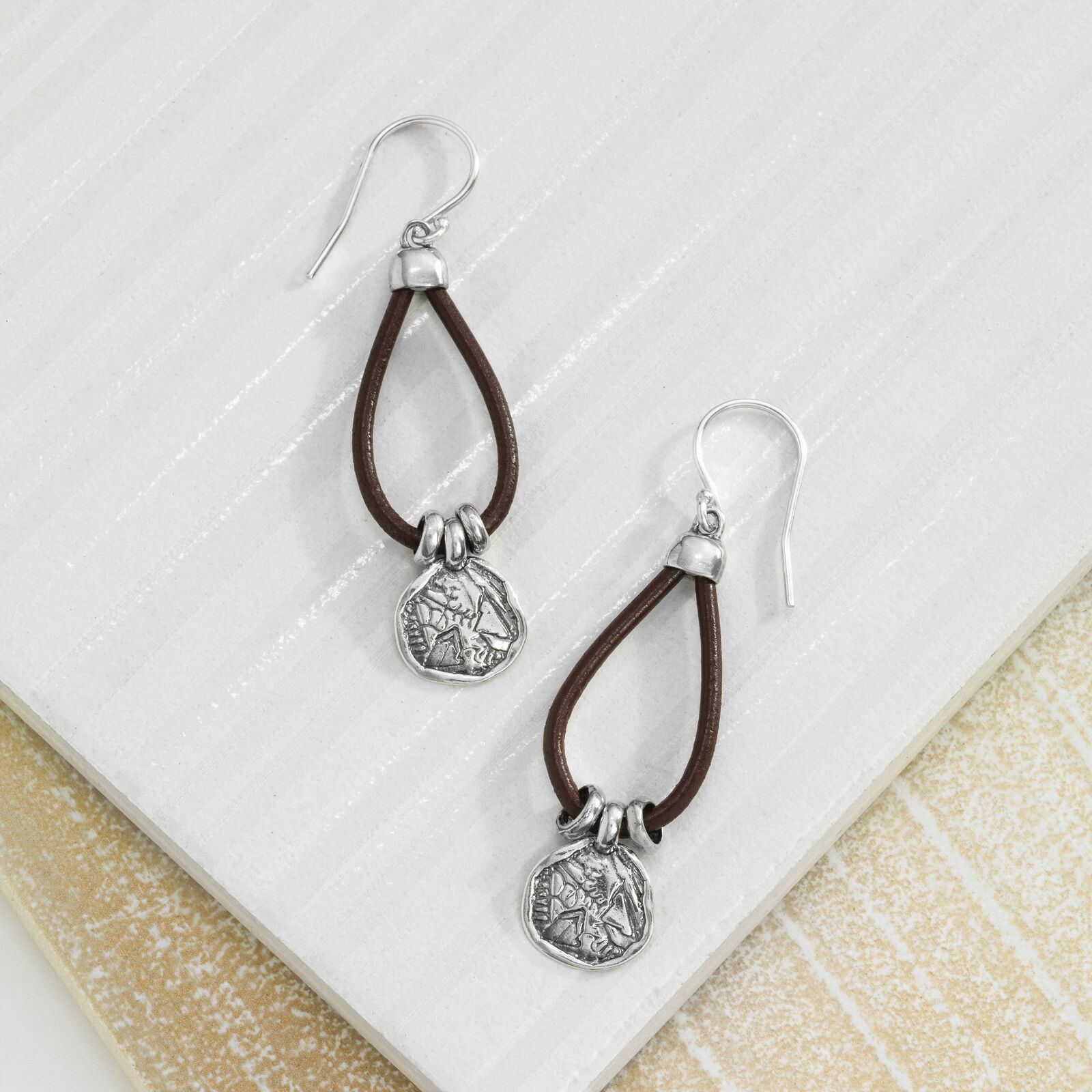 65f44574307e Silpada W2179 Sterling Silver and Leather Drop Earrings for sale ...