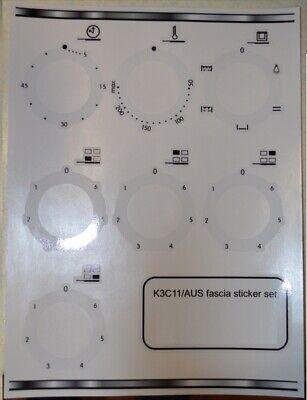 Indesit FV 10 K.B /& FV 20 K decal sticker set for worn fascia may suit others.