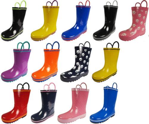 Norty Toddlers Big Kids Boys Girls Waterproof Rubber Rain Boots