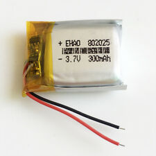 3.7V 300mAh Lipo Rechargeable Battery Li-ion 802025 for remote control speaker
