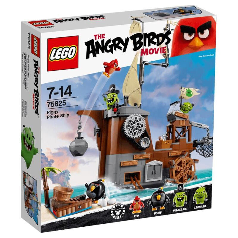 Piggy Birds Toys Pirate 75825 Scarce Ship Lego Angry DHIE29