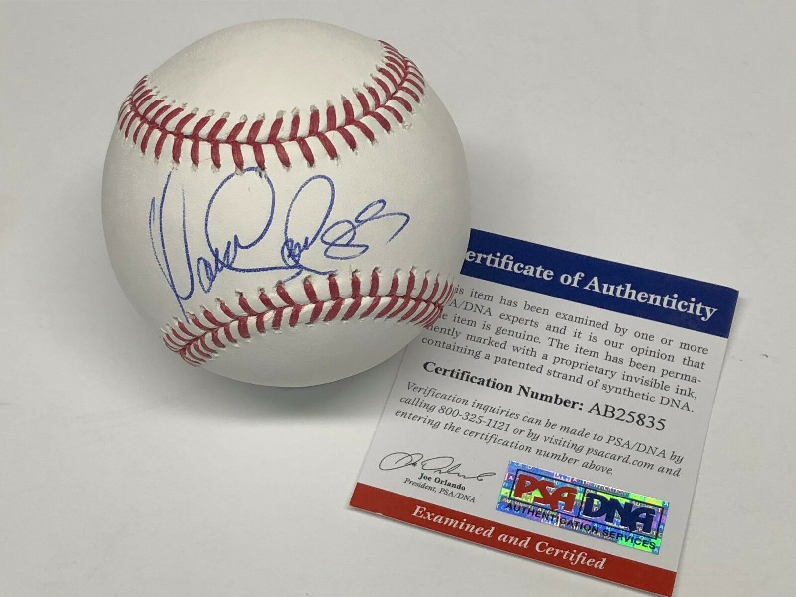 Yaisel Sierra Signed Major League Baseball MLB *Dodgers PSA AB25835