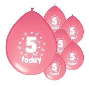 10-X-5th-BIRTHDAY-GIRL-BALLOONS-034-5-TODAY-034-BIRTHDAY-BALLOONS-PINK-PA