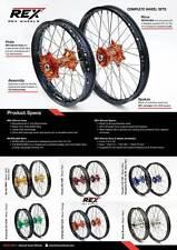 HAAN WHEELS Hinterrad Räder Radsatz Wheel Motocross Enduro EXCEL REX MX rear