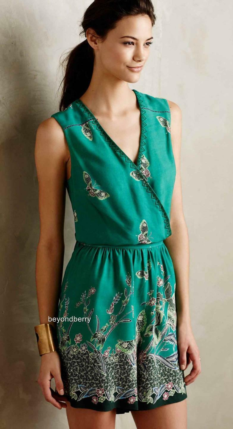 NEW Anthropologie Papillion Romper by Elevenses  Size S