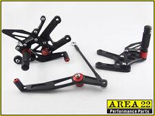 Yamaha YZF R6 06-2014 Area 22 Adjustable Rear Sets Black Rearsets Foot Controls