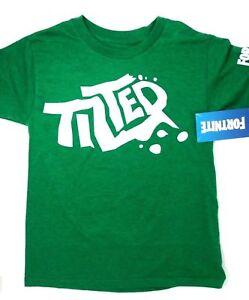 FORTNITE Shirt Boys/' Licensed Green T-Shirt FREE SHIPPING