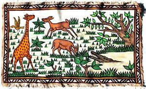 Arte Africano - Tela Di Korhogo - Animali Savana Africa - Batik Déco - 92 CMS