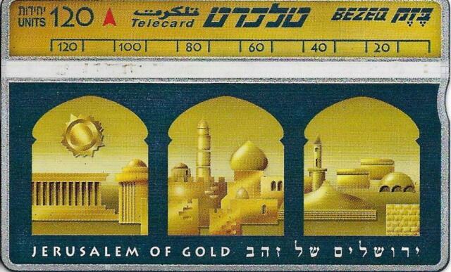 ISRAEL BEZEQ BEZEK PHONE CARD TELECARD 120 UNITS JERUSALEM OF GOLD