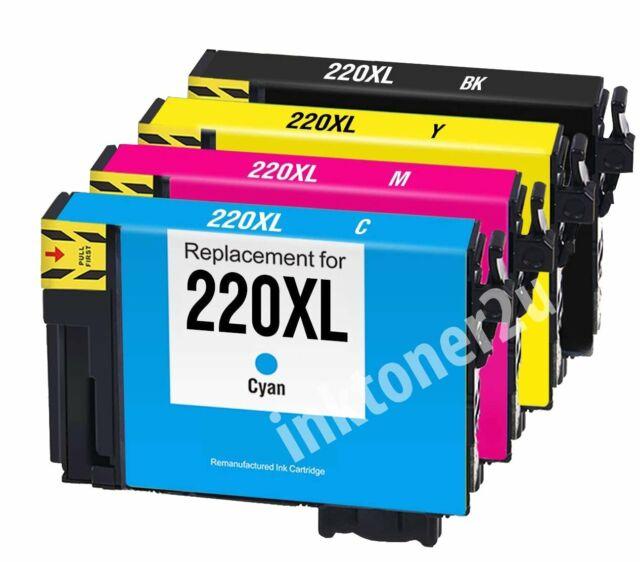 4Pk T220XL 220XL Ink Cartridge For Epson WF-2630 XP-424 XP