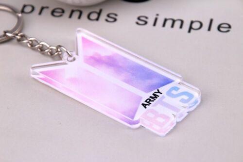 V für Army. Jungkook Jimin Acrylglas Schlüsselanhänger mit BTS Logo und Suga